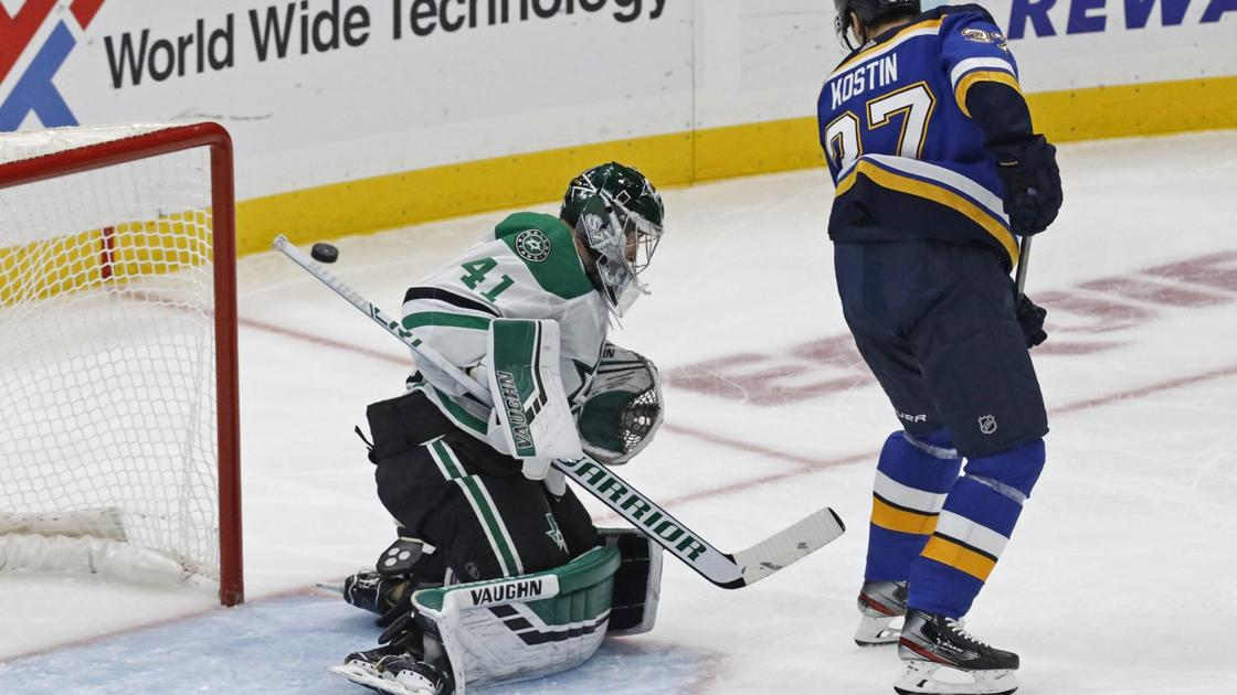 Excitement, some nerves for Kostin in first Blues practice