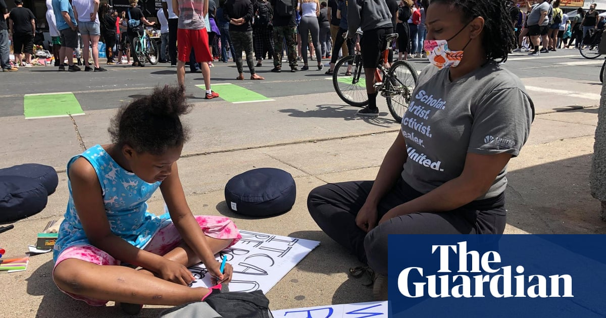 Really tired and fed up: George Floyd protesters demand action on racism