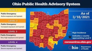 Theres Less Red on Ohios Public Advisory Map as COVID-19 Cases, Hospitalizations Decline