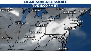Wildfire smoke brings hazy skies and lower air quality